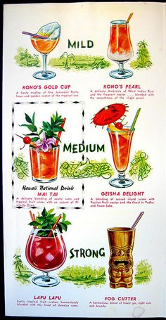 menu page for tropical drinks. No idea where its from