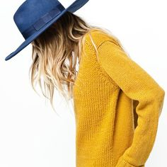 mustard and blue.