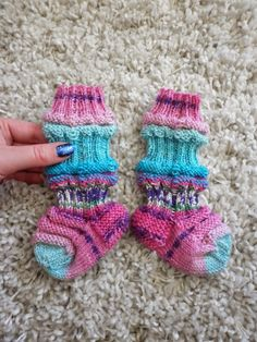 Baby socks, made with Opal Sweet'n spicy :)