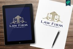 Law Firm, Abogado Logo Template by PenPal on @creativemarket
