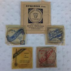 Lot of 4 Vintage Violin Strings Packages Russian Gut La Tova Durro B. & J.