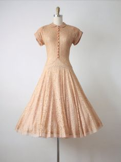 1940s dress / 40s candied ginger lace dress by 1919vintage on Etsy
