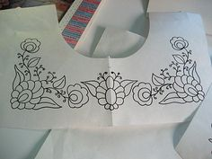 Designing Embroidery For Mexican Peasant Blouse