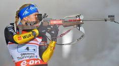 Schnell ins Team integriert: Schlussläuferin Horchler verteidigte auch am Schießstand den dritten Platz