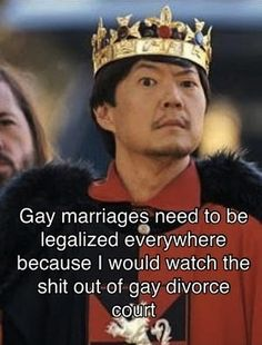 :): Best argument for gay marriage