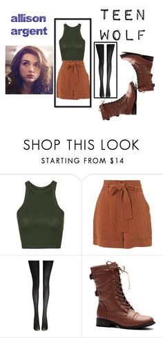 """""""teen wolf-5"""" by mduda0570 on Polyvore featuring moda, Topshop, Whistles e Fogal"""