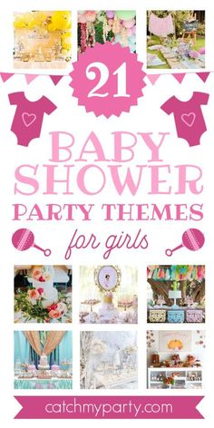 We've gone through all the popular baby shower partiesshared on CatchMyParty to find the 21 best baby shower themes for girls. These parties are on-trend and truly inspirational! If you're looking for a trending baby shower theme, look no further! See more parties ideas and share yours at CatchMyParty.com