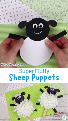 These Packing Peanut Sheep Puppets are super fluffy and fun! It's a lovely recycled Spring craft or Easter craft for kids. This lamb craft is a great way to encourage children's imaginative play and storytelling. #kidscraftroom #kidscrafts #recycledcrafts #springcrafts #eastercrafts #lambcrafts #sheepcrafts Puppet Crafts, Doll Crafts, Craft Stick Crafts, Preschool Farm, Preschool Ideas, Craft Ideas, Homemade Puppets, Homemade Dolls, Easter Art