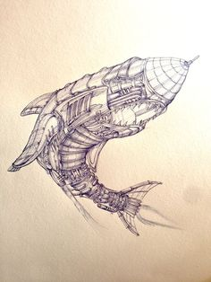 I Draw Detailed Steampunk Illustrations With A Ballpoint Pen | Bored Panda