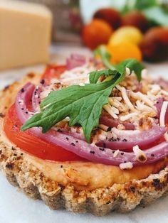 Whole Food Recipes, Vegan Recipes, Vegan Parmesan Cheese, Tart Shells, Savory Tart, Savoury Baking, Vegetarian Entrees, Crust Recipe, Platter
