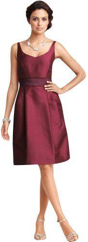 DAPENE Woman Knee Length Burgundy Bridesmaid « Dress Adds Everyday