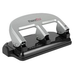Accentra Inc. PaperPro 40 Sheet Rubber Base Traditional Three-Hole Punch -