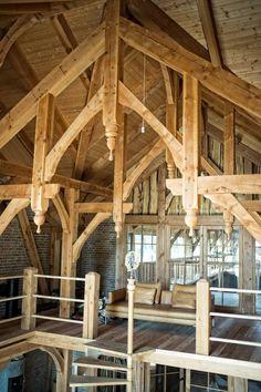 Mange drømmer om å bo i en borg. Metal Barn Homes, Metal Building Homes, Pole Barn Homes, Timber Frame Homes, Building A House, Timber Frames, Smart Home Design, Rustic Home Design, Secret Rooms In Houses