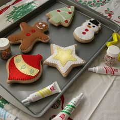 christmas cookies pan by Lilly Bean Play Food, via Flickr