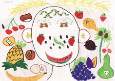 Fruit and Vegetable Portraits Lesson Plan: Art History for Kids - KinderArt