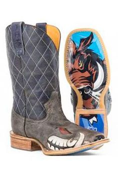 Not Boaring Tin Haul Boot With Boar Obvious Sole Cowboy Boots Urban Western Wear