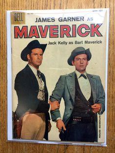 1958 Dell James Garner as Maverick Jack Kelly as by LeftoverStuff