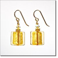 Golden Sparkler Earrings - Marco Polo Designs
