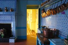 I still would love this kitchen that belonged to Claude Monet at his home in Giverny.  The blue and white tiles, copper pots, fireplace, gardens outside just speak to me.