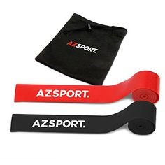 AZSPORT Floss Mobility Bands, Heavy-Duty Exercise Band for Muscle and Joint Compression Recovery, 2 Pack with Carrying Case