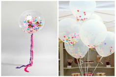 DIY Confetti Decor Ideas: Fill balloons with festive confetti