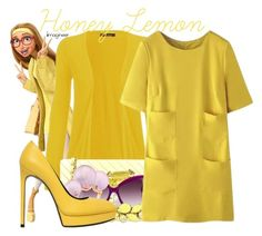 """Honey Lemon (Big Hero 6)"" by claucrasoda ❤ liked on Polyvore featuring Disney, WearAll, Chanel, Balenciaga, Mimata, Valentino, WithChic, Yves Saint Laurent and yellowdress"