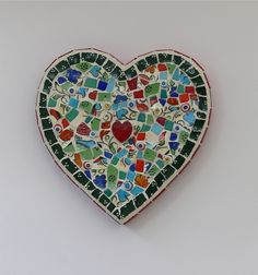 Red Heart Mosaic Wall Art by Rana Cullimore www.ranacullimore.co.uk