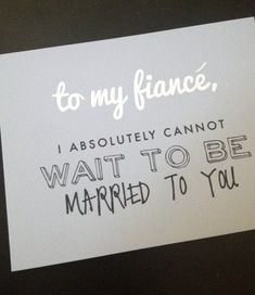 To My Fiance Wedding Card on Etsy, $5.00