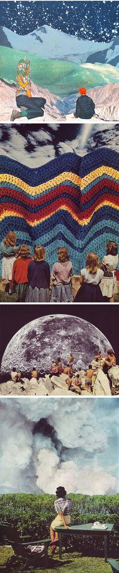 collage work of American artist Beth Hoeckel