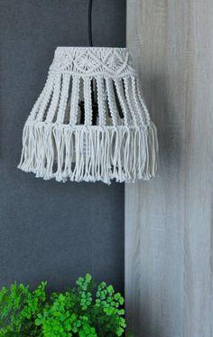 Lámpara de techo de Macrame, bohemio, moderno Inicio decoración iluminación, estilo Boho, regalo de inauguración de la casa, regalo de boda, decoración para el hogar bohemio