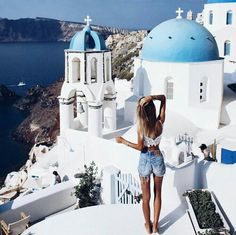Match the white and blue city (Santorini, Greece). Oh The Places You'll Go, Places To Travel, Travel Destinations, Travel Around The World, Around The Worlds, I Want To Travel, Photo Instagram, Disney Instagram, Travel Goals