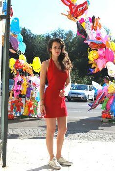 naima amarilli red dress rome gioco di donne