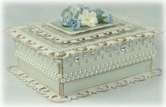 This box uses the Spellbinders rectangular Fleur-de-Lis dies for top and bottom decoration.BOX INSTRUCTIONS:1. Cut two pieces of cardstock – the lid piece should measure 5 1/8&#8…
