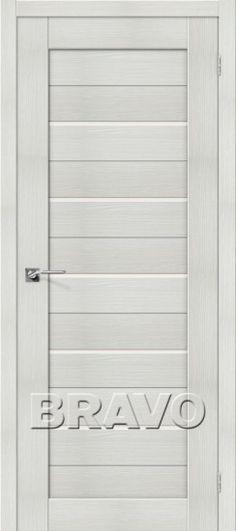 Межкомнатная дверь с эко шпоном Порта-22 ПО Bianco Veralinga