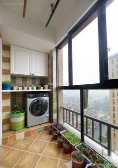 Balcony design of simple home improvement decoration effect 2016