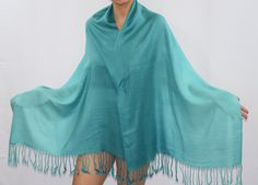 Amber Pashmina Scarf in Turquoise