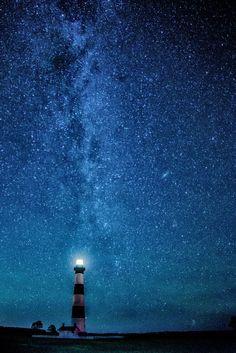 Under the Stars - Bodie Island Lighthouse, Outer Banks, NC | by Kathi Weinheimer on 500px