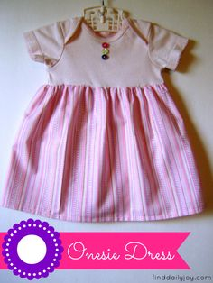 Onesie Dress {Tutorial} - finddailyjoy.com