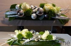 Atelier Rose-Thé - art floral Christmas Centerpieces, Christmas Decorations, Table Decorations, Ikebana, Deco Floral, Floral Design, Art Floral Noel, Deco Table Noel, Flower Arrangements
