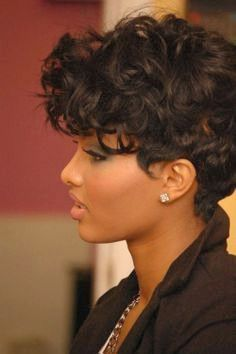20 best short curly haircut for women - Lovely Short Haircuts for Women with Curly Hair, 34 Best Curly Bob Hairstyles 2014 with Tips On How to for Particular Short Haircuts for Women with Curly Hair Cute Short Curly Hairstyles, Short Curly Pixie, Haircuts For Curly Hair, Curly Hair Cuts, Black Curly Hair, Twist Hairstyles, Curly Hair Styles, Short Haircuts, Black Hairstyles
