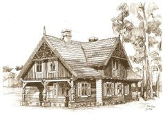 Dom drewniany Rybitwy