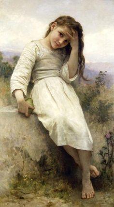 Arya Stark.  (William Adolphe Bouguereau, Little Thief)