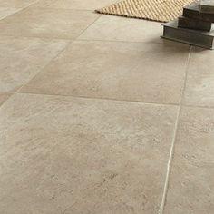 Carrelage sol et mur beige effet pierre Tesalia l.60 x L.60 cm   Leroy Merlin