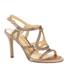 Gianni Bini Belle Satin Sandals #Dillards  Possible wedding shoes!