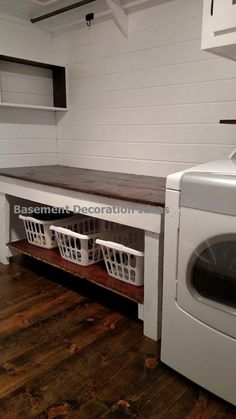 This is the Best Laundry Room Ideas On a Budget we ever seen. DIY Laundry Room R. This is the Best Laundry Room Ideas On a Budget we ever seen. DIY Laundry Room Remodel Ideas for Or Basement Makeover, Basement Storage, Laundry Room Organization, Laundry Storage, Basement Renovations, Basement Designs, Basement Bathroom, Basement Laundry Rooms, Basement Apartment
