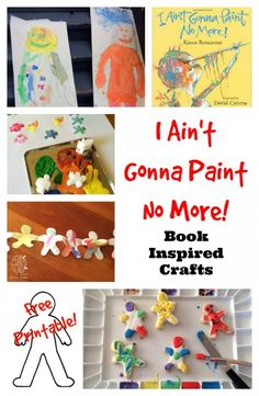 I Ain't Gonna Paint No More book inspired crafts: stamps, cookies, painting and more!  From Left Brain Craft Brain.