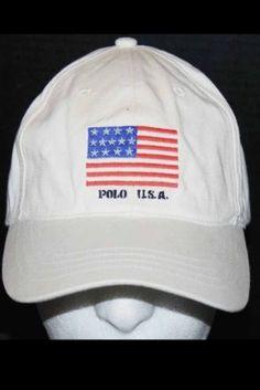 6efd600a Vintage Polo Ralph Lauren Usa Flag Hat Cap MINT Ski Bear Stadium Pwing 92  Cheap!
