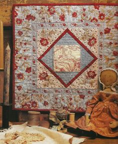 Small quilt from book American Doll Quilts by Kathleen Tracy http://www.countrylanequilts.com/