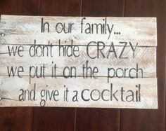 Pallet wood sign In our Family Porch Sign by MakeItMary on Etsy