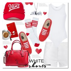 """""""White Shorts"""" by queenvirgo ❤ liked on Polyvore featuring Vans, Coach, Mother, T By Alexander Wang and Bridal Symphony"""